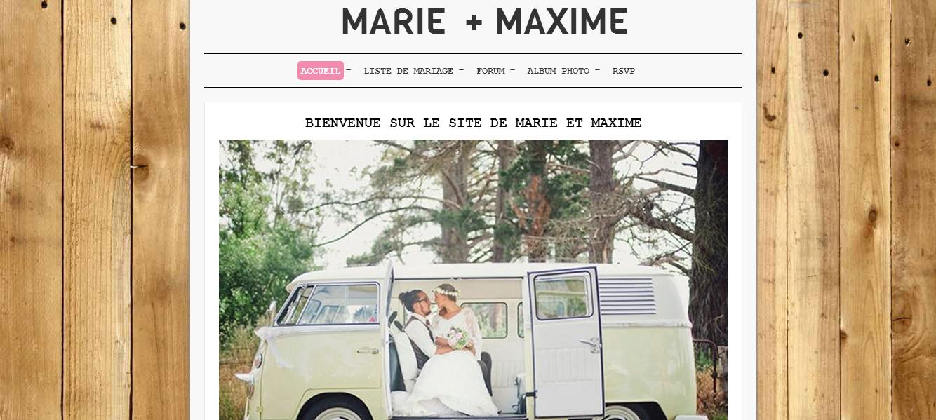 Créer un blog de mariage
